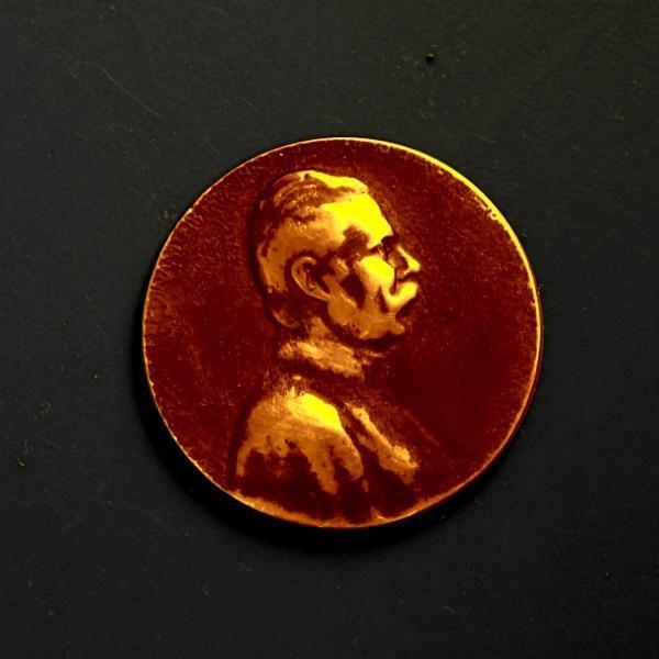 plaketa František Ferdinand D-Este ,Sarajevo 1914 ,kov,Monarchie,40mm - Numismatika