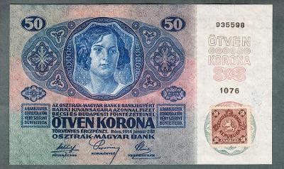 50 korun 1914 KOLEK stav UNC !!!