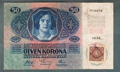 50 korun 1914 KOLEK serie 1036