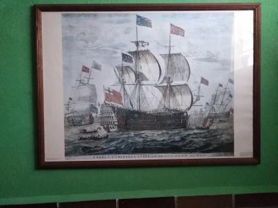 Obraz staré válečné lodi