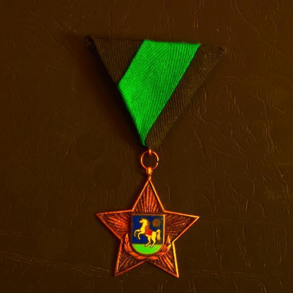 Řád Rudé Hvězdy Velké Ostravy ,číslovaný , vzácné vyznamenání, ČSR - Faleristika