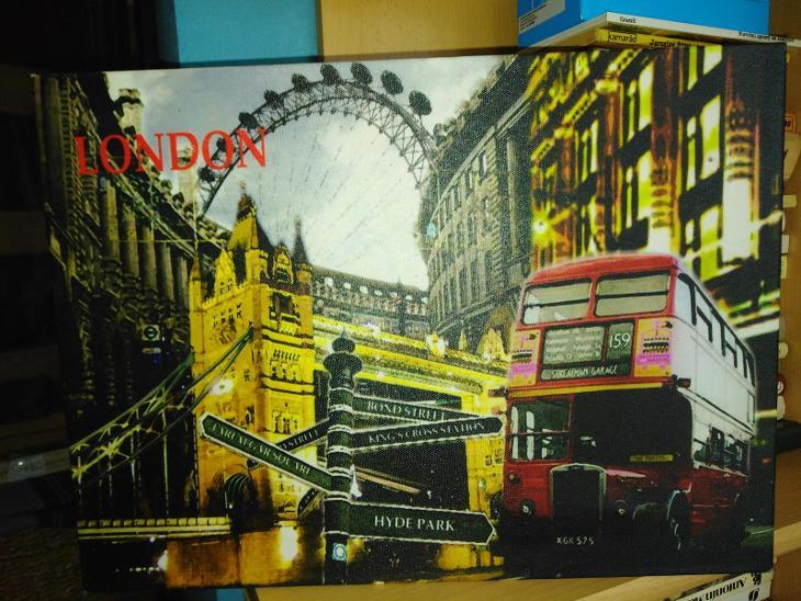 Obraz London svítící - Starožitnosti