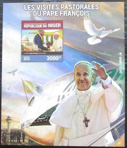 Niger 2015 Papež František Mi# Block 497 Kat 11€ 2521