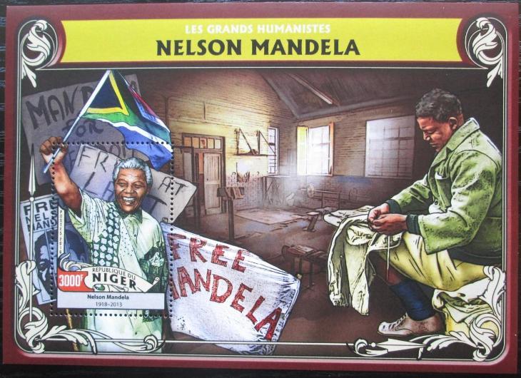 Niger 2016 Nelson Mandela Mi# Block 566 Kat 12€ 2522 - Filatelie