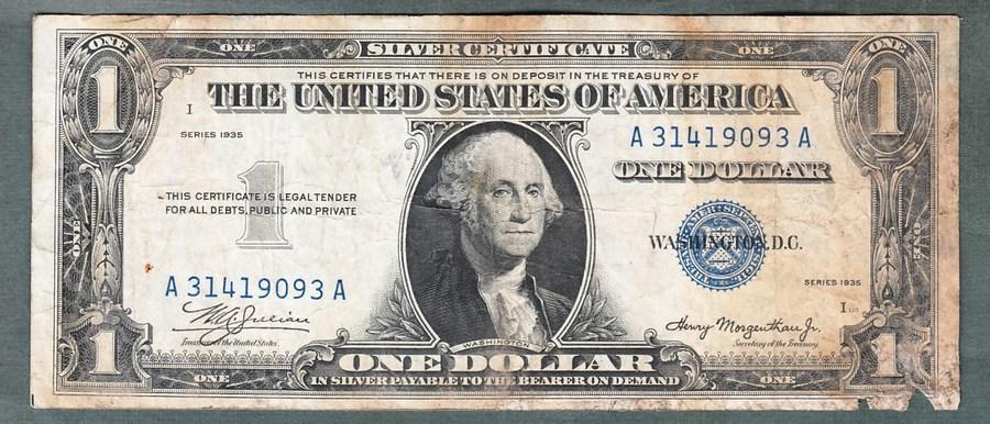USA Amerika 1 dollar 1935 - Bankovky