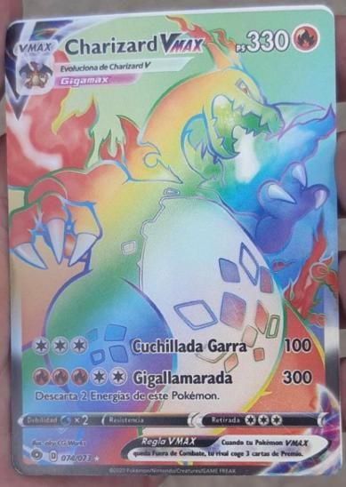 Pokemon karta Charizard VMAX RAINBOW !!! - Karetní hry