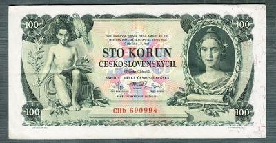 100 korun 1931 serie TŘI PÍSMENA NEPERFOROVANA