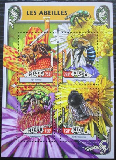 Niger 2016 Včely Mi# 4227-30 Kat 12€ 2523 - Filatelie