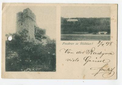 Šťáhlavy, Plzeň jih, hrad Radyně (pošk.)