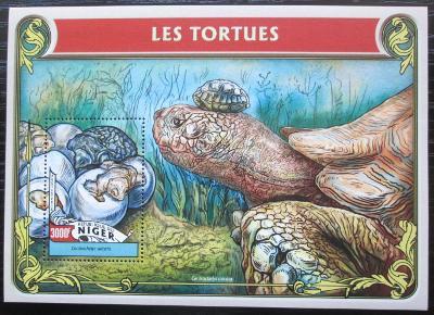 Niger 2016 Želvy Mi# Block 551 Kat 12€ 2523