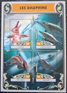 Niger 2016 Delfíni Mi# 4247-50 Kat 12€ 2524