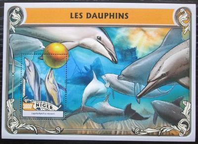 Niger 2016 Delfíni Mi# Block 554 Kat 12€ 2524