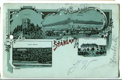 Šťáhlavy, Plzen jih, litografie (pošk.)