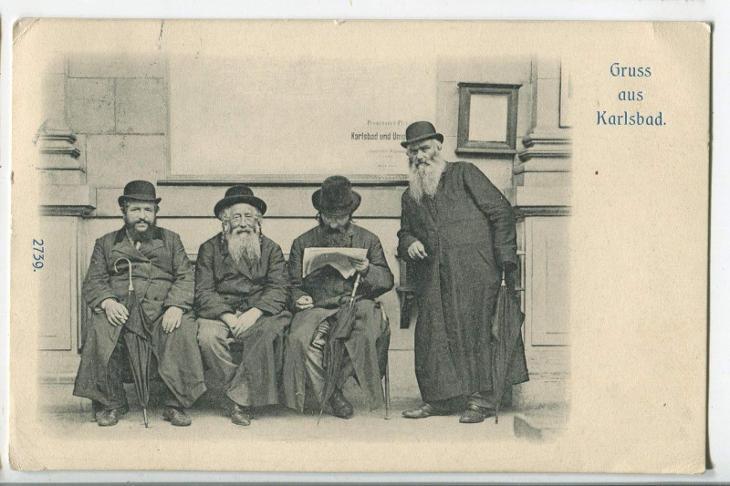 Karlovy Vary, Karlsbad, Židé, judaika, Juden - Pohlednice