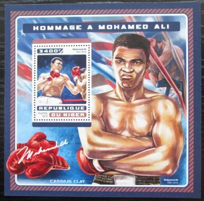 Niger 2016 Muhammad Ali, box Mi# Block 636 Kat 13€ 2525