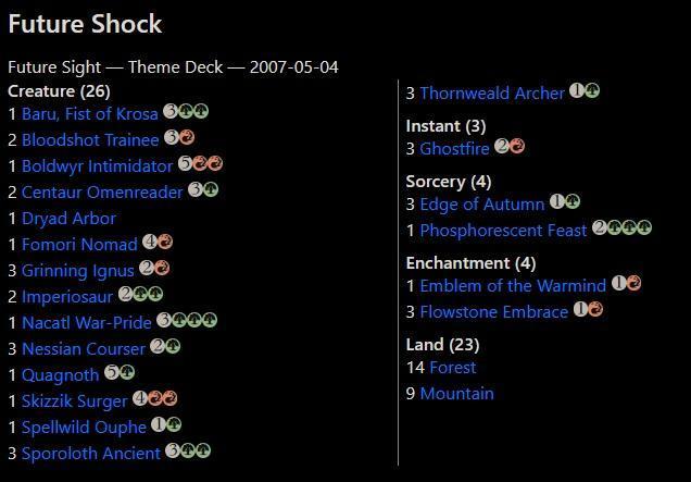 Theme Deck: Future Shock, Future Sight - Magic: The Gathering - MTG - Karetní hry