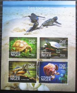 Niger 2014 Želvy Mi# 3184-87 Kat 12€ 2527