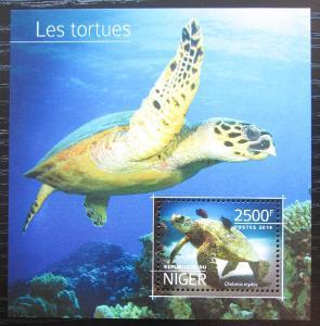 Niger 2014 Želvy Mi# Block 381 Kat 10€ 2527