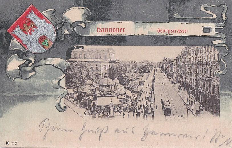 NĚMECKO - HANNOVER - GRUSS - ERBOVKA - 11-DG26 - Pohlednice