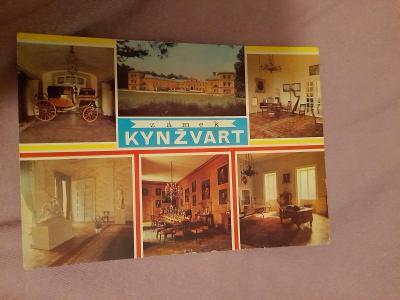 Pohlednice Zámek KYNŽVART,prošlé poštou