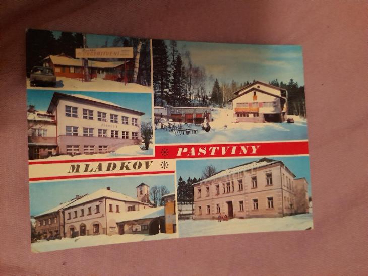 Pohlednice PASTVINY - MLADKOV, prošlé poštou  - Pohlednice