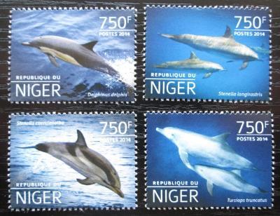 Niger 2014 Delfíni Mi# 3214-17 Kat 12€ 2527