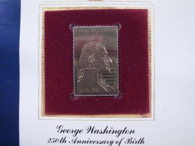 """George Washington replika známé známky ve """"zlatě"""" luxus"""