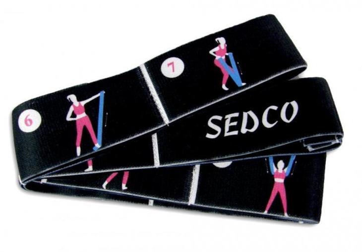 Sedco Pás YOGA STRETCH STRAP popruh 80x4 cm - Posilování, fitness a trampolíny