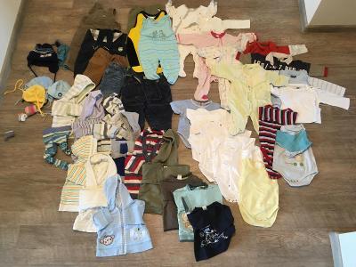 Mix dětského oblečení vel. 56 a 62-68 cca 50ks