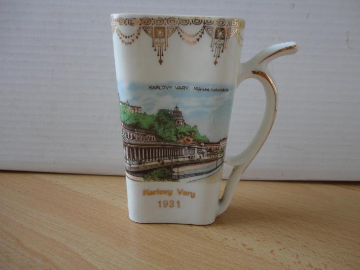 Lázeňský pohárek Karlovy Vary 1931 - Porcelán