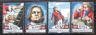 Niger 2016 Wolfgang Amadeus Mozart Mi# 4297-4300 Kat 12€ 2528