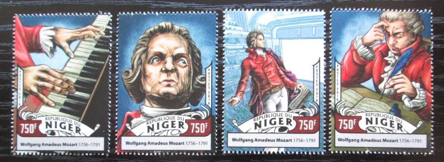 Niger 2016 Wolfgang Amadeus Mozart Mi# 4297-4300 Kat 12€ 2528 - Filatelie