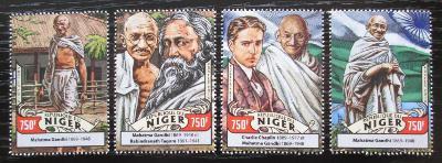 Niger 2016 Mahátma Gándhí Mi# 4302-05 Kat 12€ 2528