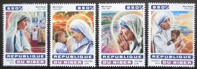 Niger 2016 Matka Tereza Mi# 4652-55 Kat 13€ 2528