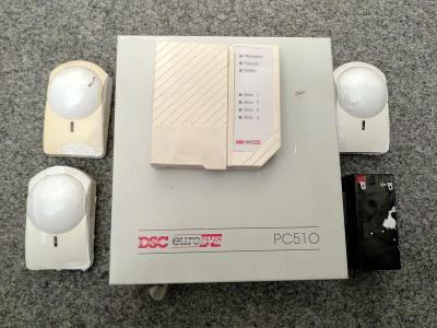 Zabezpečovací systém EZS DSC PC510 set