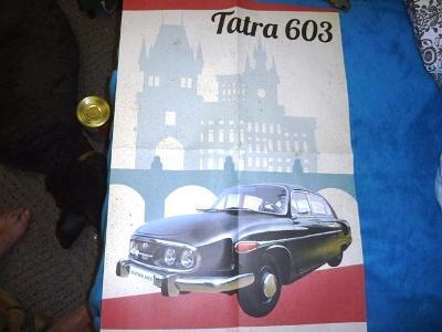 TATRA  603 ..  ... .. PLAKÁT