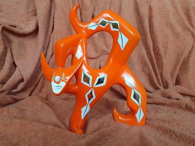 Porcelánová soška, klaun, Royal Dux Bohemia