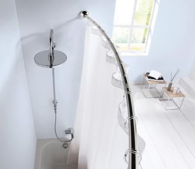 Klenutá tyč pro sprchový závěs 125-220 cm (38363527) _I141