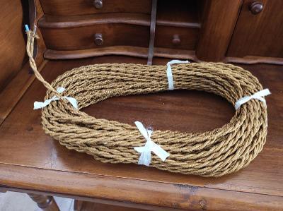 Zlatý retro kabel - dvoj žíla - cena za metr
