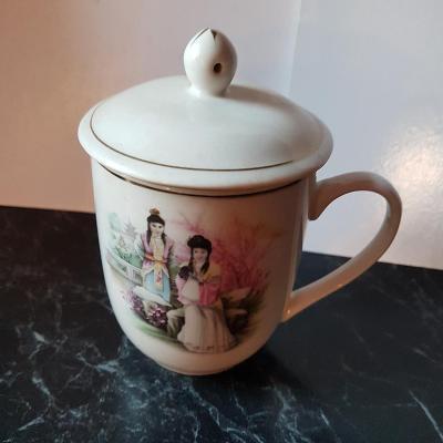 hrnek s pokličkou na čaj - čínský motiv objem 300ml