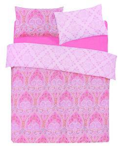 Růžová vzorovaná ložní souprava 230x220 PRIMARK