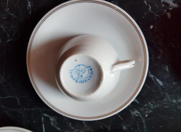 Sada na kávu Made In Korea objem 125 ml - Porcelán