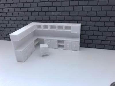 Pracovní stul  Diorama/1/64 (matchbox,hw atd)
