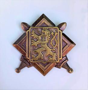 Starý vojenský odznak - STÁTNÍ ZNAK ČSR lev - armáda, vyznamenání, meč
