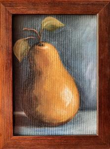 Hruška - Malba Akrylem 13x18 cm