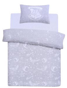 Šedé ložní prádlo s hvězdami 200x200 HARRY POTTER