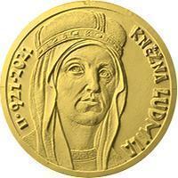 Zlatá mince ČNB 10000 Kč Kněžna Ludmila BK