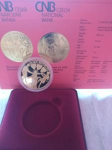 Zlatá mince ČNB 10000 Kč Kněžna Ludmila Proof