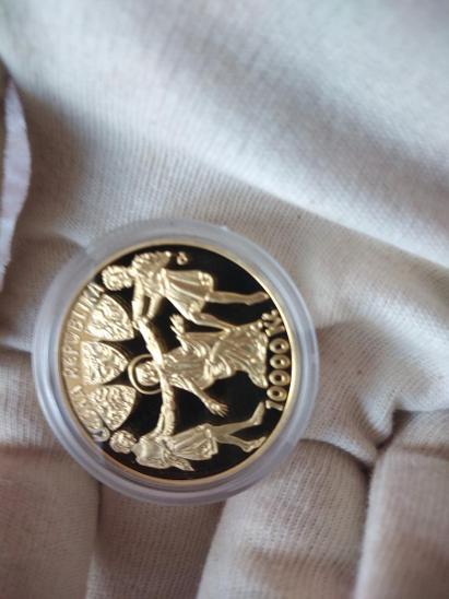 Zlatá mince ČNB 10000 Kč Kněžna Ludmila Proof - Numismatika