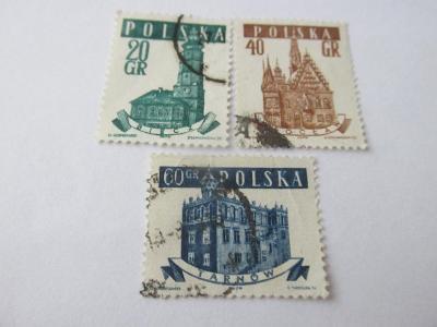 Prodávám známky Polsko 1958, Městské věže a radnice